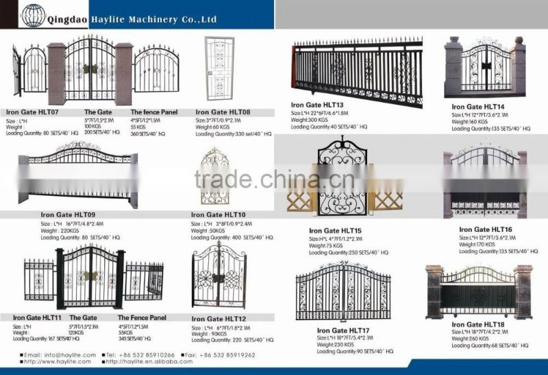 Powder Coating Iron Square Tube Gate Designs For Sale Of Iron Gate