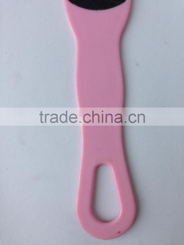 Plastic handle with ceramic foot file,foot smoother,pedicure foot file,