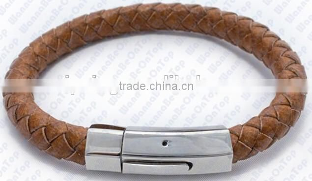 Fashion handmade Bracelets 2016 Braided Real Leather Bracelet For girls
