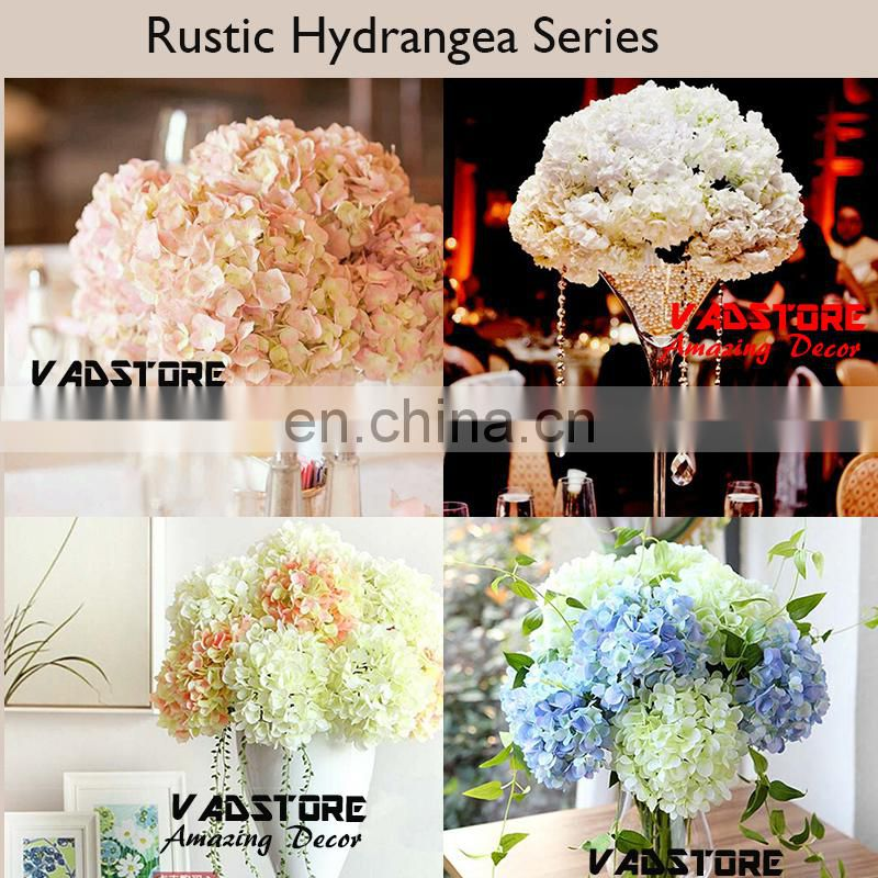 artificial high quality silk hydragea table wedding table flower centerpiece wedding flower stand centerpiece