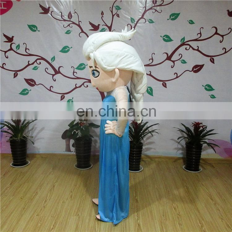 Hot sales frozen elsa mascot costume for adult