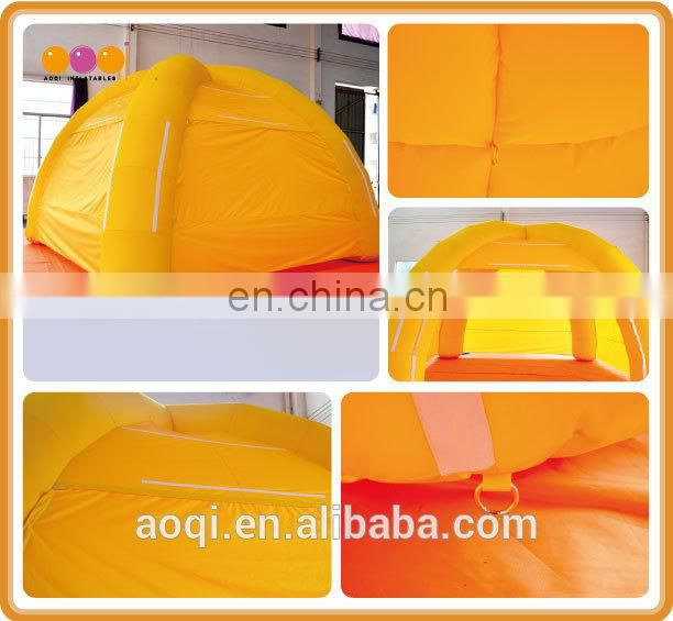 Cheap price yellow 4 legged inflatable tent for camping and hiking