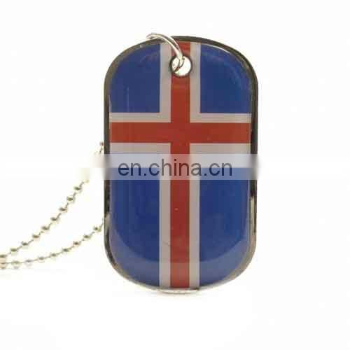 metal country flag enamel pet tags