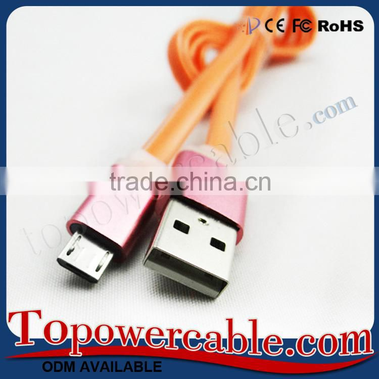 Fast Charging Aluminum Quality Micro USB Cable For Blackberry Smart Phone