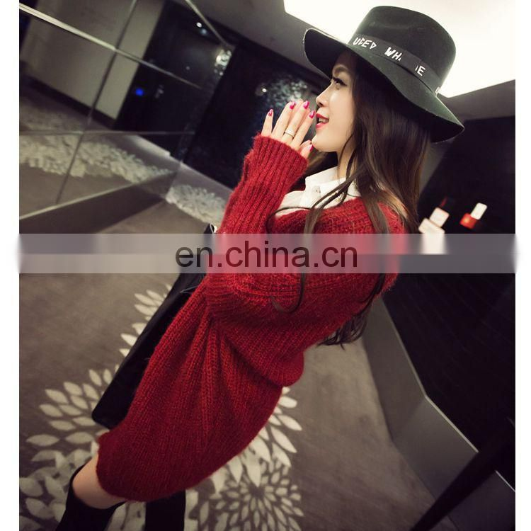 Women 2017 Winter Long Sweater Coat for Women Down Formal Long Cardigans