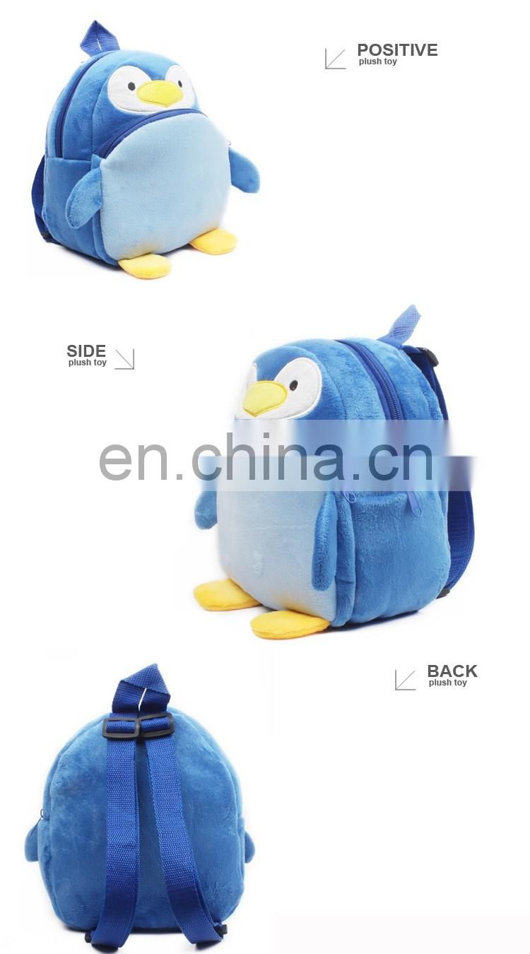 YK SA8000 wholesale hot sale plush penguin backpack for kids