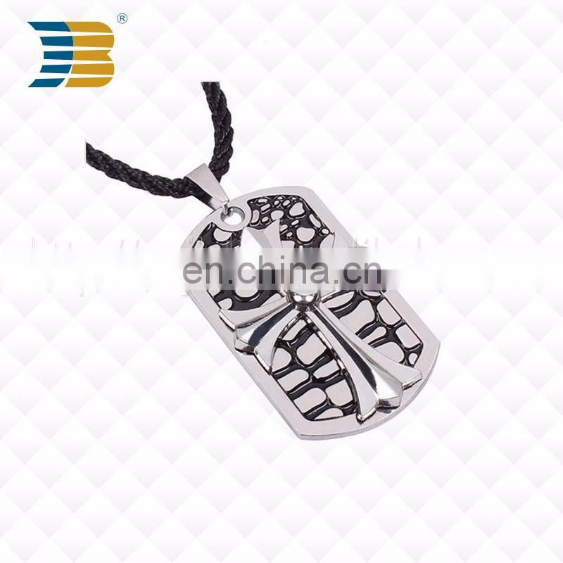 New hot selling enamel fashion custom metal jewelry dog tags with chain
