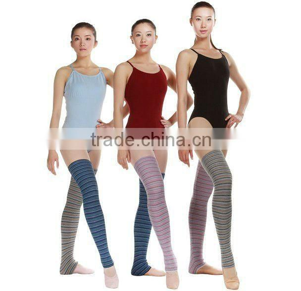 D005022 Dttrol colorful multi-striped dance girl leg warmers wholesale panty socks china