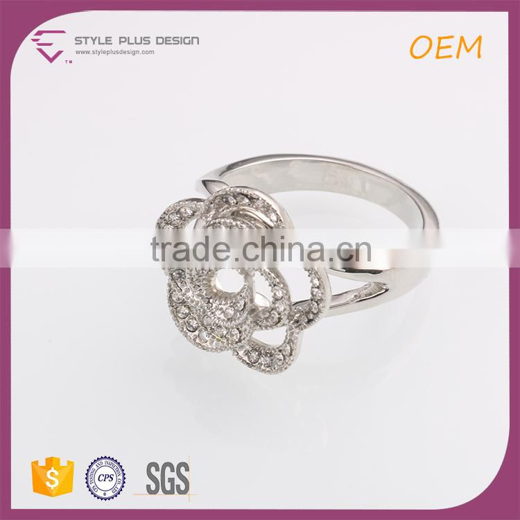 R63220K01 fashion felegree casting crystal rings latest silver ring design new design finger ring