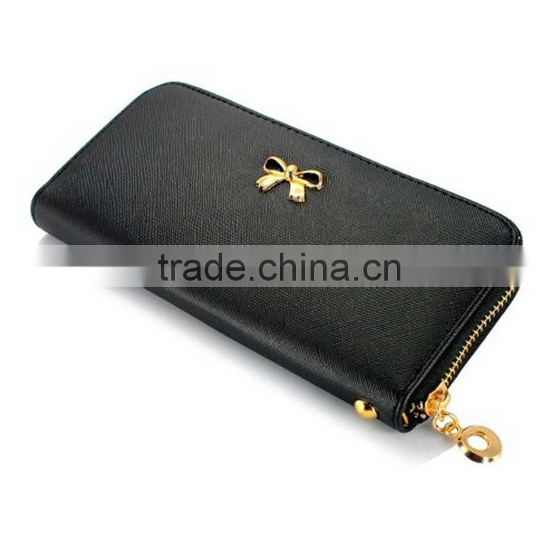 fashion cheap women clutch leather long wallet,custom logo/RFID blocking lady multi-function clutch purse