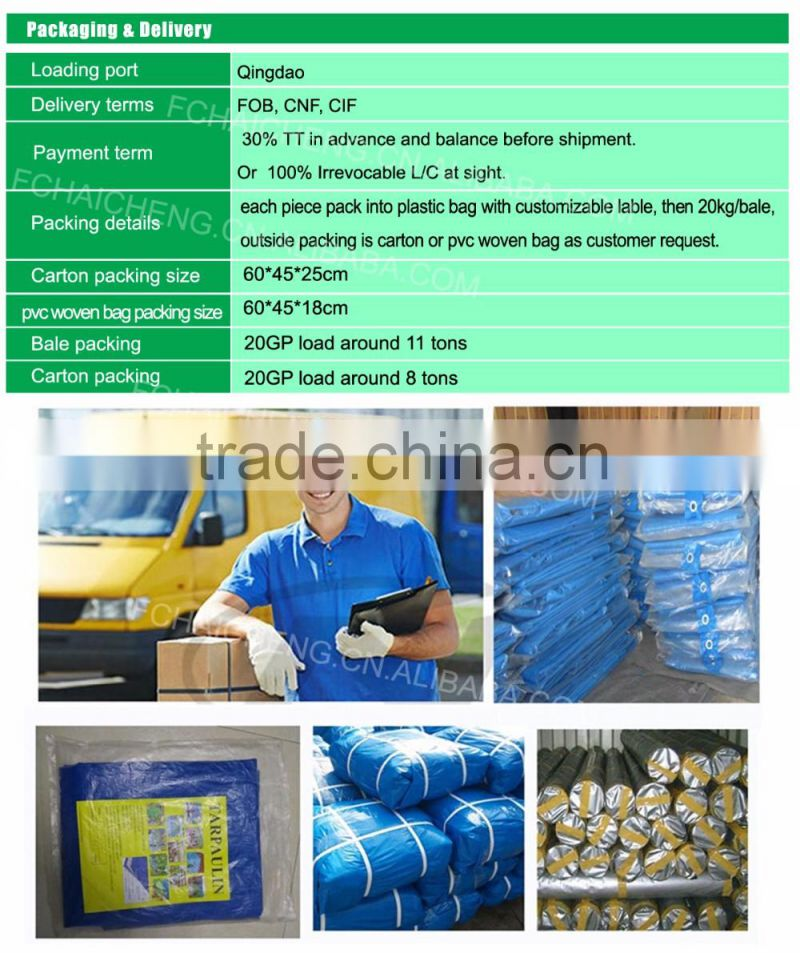 High quality pe tarpaulin ,PE tarpaulin from Feicheng haicheng,Tarpaulin for various use in China