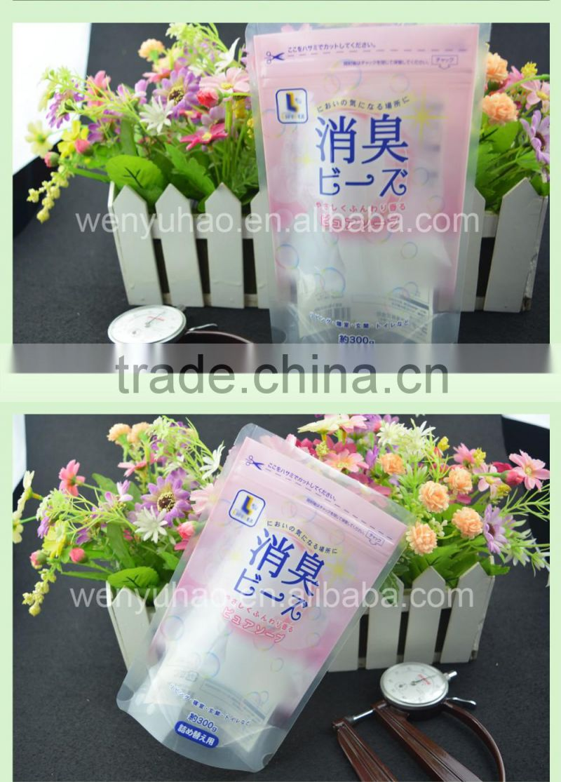 high quality printing stand up pouch deodorant packing plastic bag with zipper
