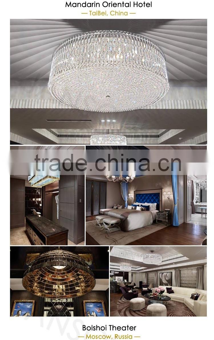 zhongshan alibaba low price brown flower forever-light hotel project customer made crystal chandelier