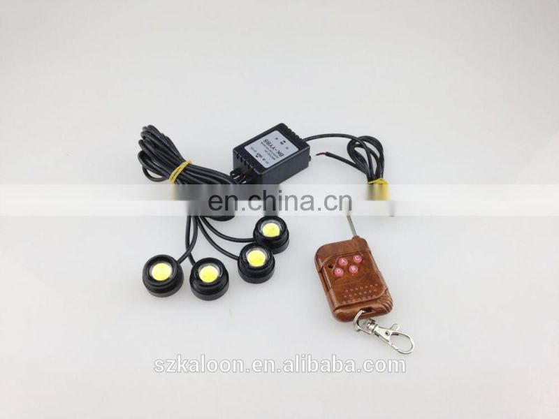 super brightness 4x3W eagle eye strobe light 4pcs/set with remote controller