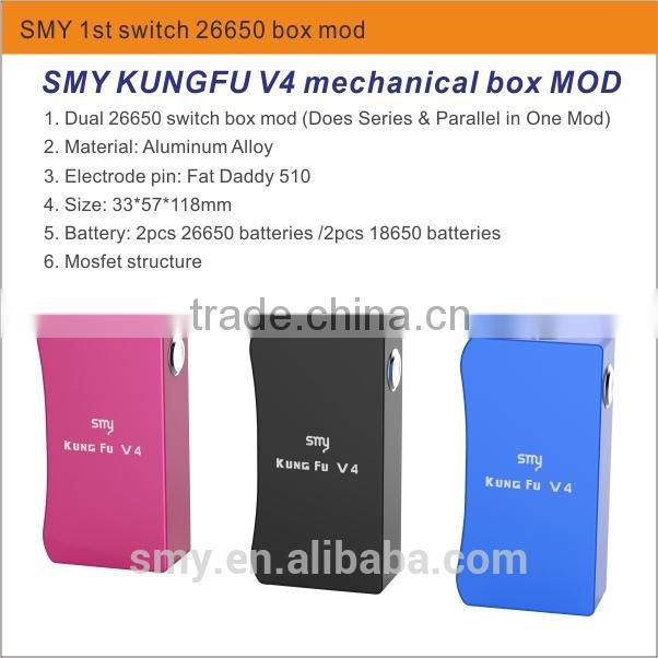 China factory wholesale E vaporizer e cigarette mini temperature controller smy 50 smy50w temp control box mod, box mod kung fu