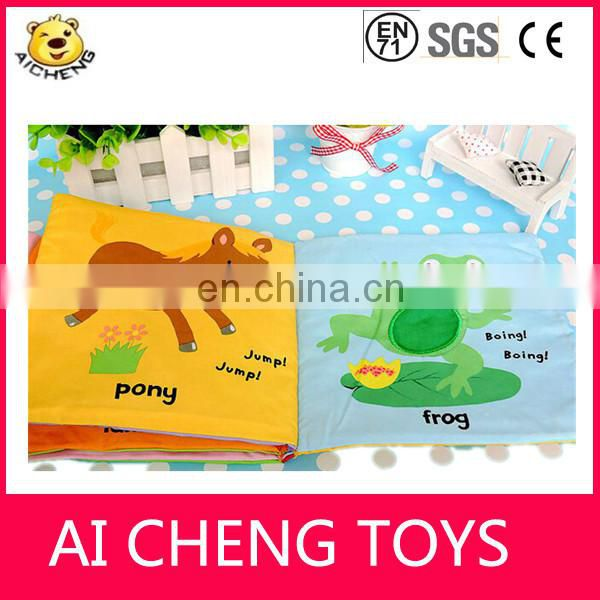 Factory customize baby printting soft book with mirror