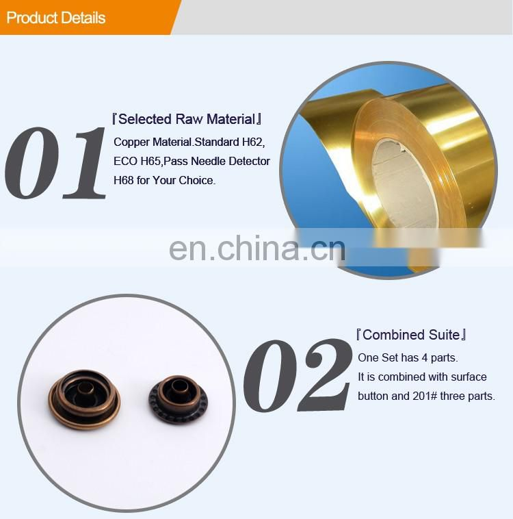 Customized Metal Brass Ring Snap Button BM10204