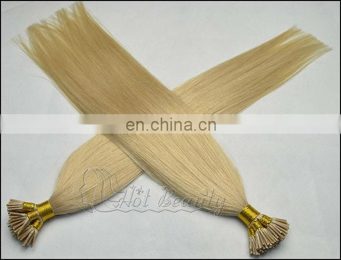 Brazilian human hair t tip hair extension