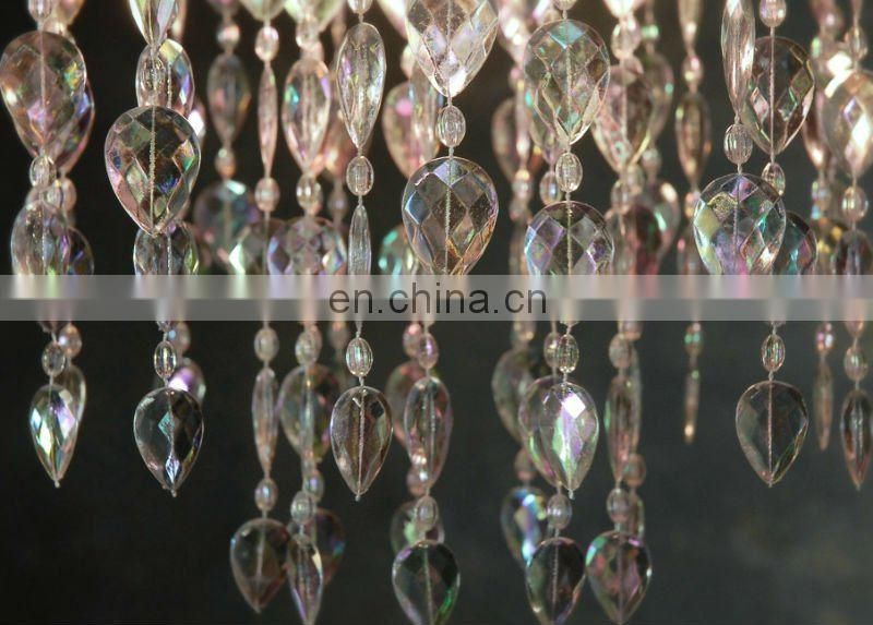 iridescent Acrylic Crystal Chandelier for wedding centerpiece