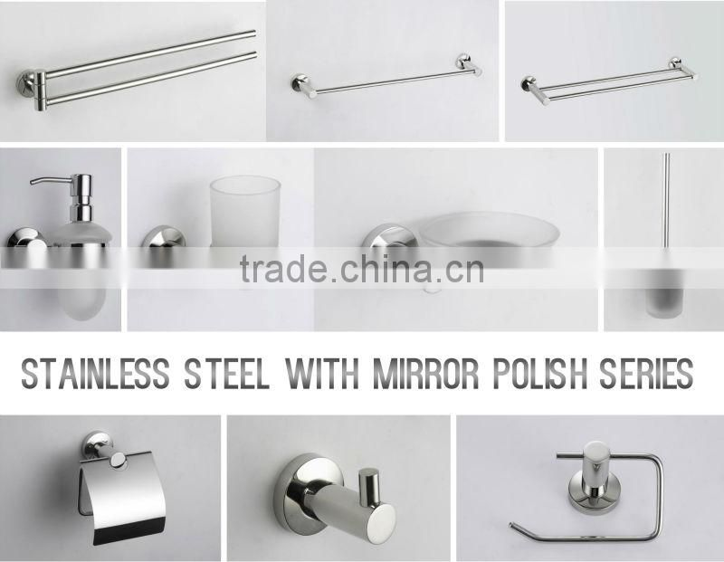 Wholesale Zinc Alloy Chrome Finishing Wall Hanger Single Tumbler Holder Glass Toothbrush Holder