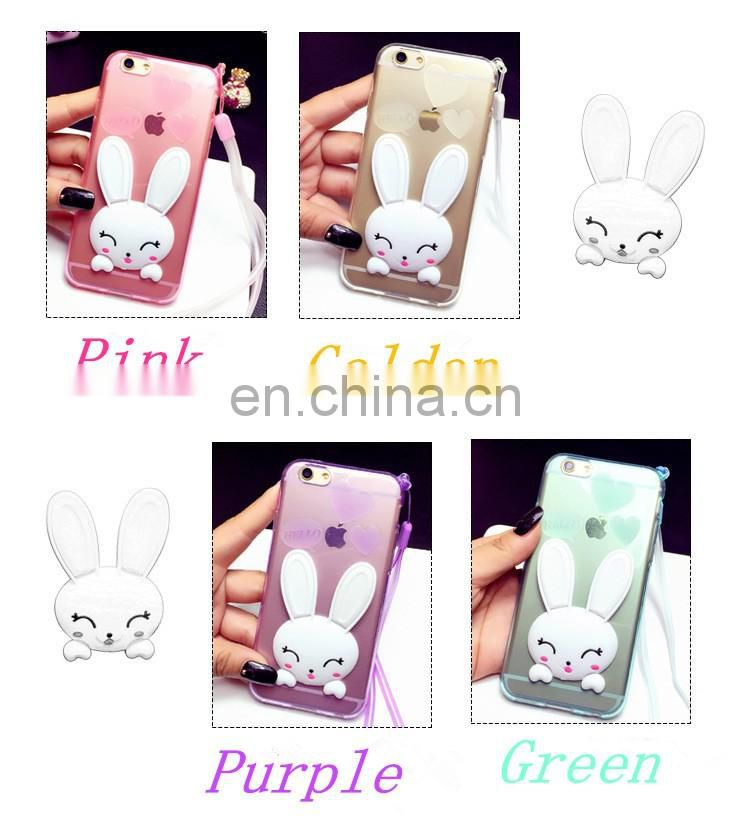 Mobile Phone Accessories cartoon silicone phone case with support