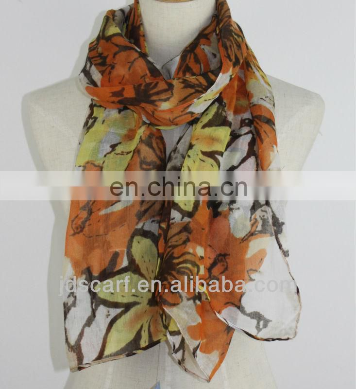sarongs for beach JDY-142# printed promotion fleece scarf