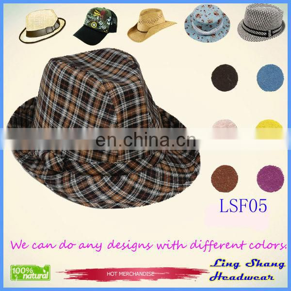 LSF20 used for party Cheap fashion Fabric Fedora winter bucket hat