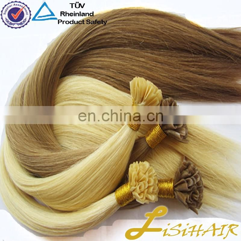 2017 Best Selling Factory Price Soft Smooth 100% Temple Indian Hair Keratin Pre Bonded Ombre U Tip Hair Extension