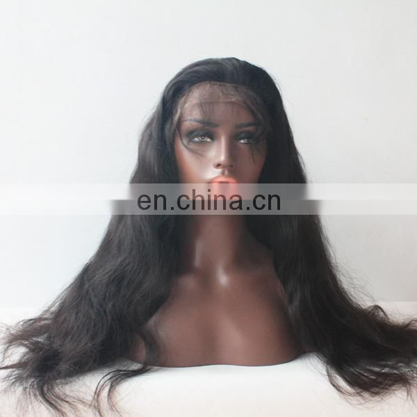 Beautiful human hair wig top quality virgin russian hair lace front wig