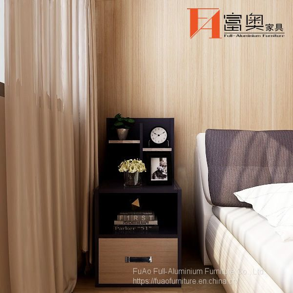 Whole Aluminum Bedroom table Bedside Table Nightstands Image