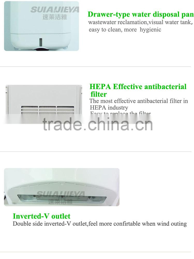 bathroom appliances wall mounted 304 stainless steel automatic high speed jet air hand dryer