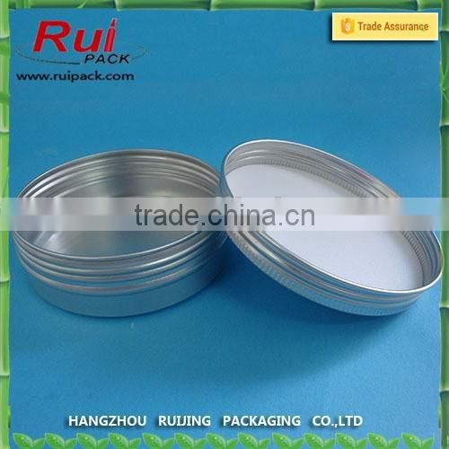 50g Empty Aluminium Cosmetic jar with logo printing, printed aluminum jar for hand cream, logo printing metal container