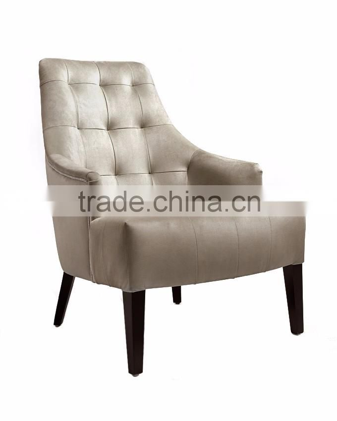 Wholesale Wood Chair Sofa Chair Single Seat Sofa Leather Armchair