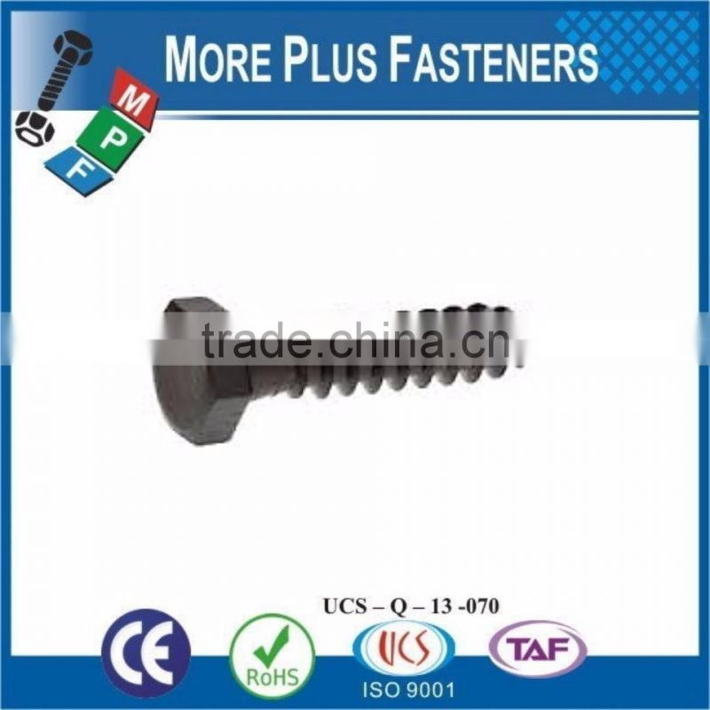 Made In Taiwan External Black Phosphate White Coated Galvanized Metric Lag Bolt