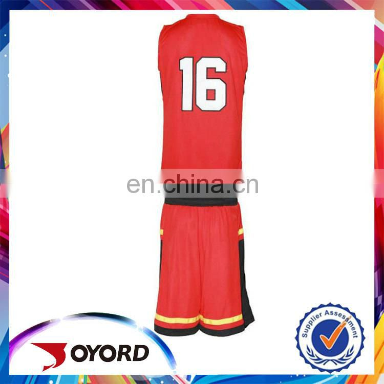 OEM red sleeveless basketball jersey uniform