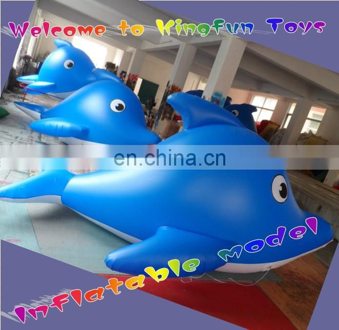 Customized outdoor helium air shark model