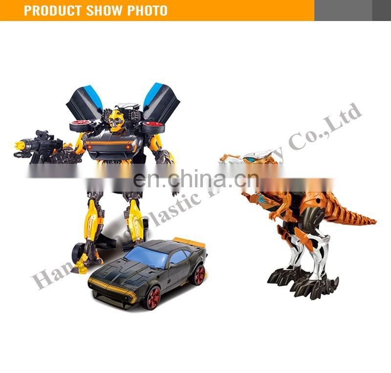 New Product 24CM Plastic Robot Toy Car and Dinosaur robot transform robot toy