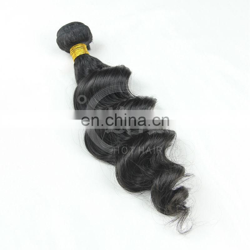 Hot selling 6a grade quality unprocessed virgin peruvian loose wave hair product loose wave cheap peruvian human hair weave