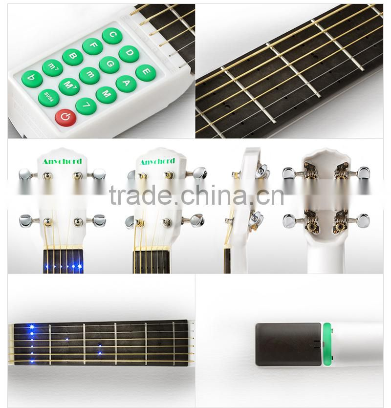 Portable guitar chord trainer
