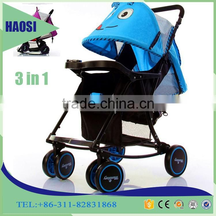 Baby Swing Bed Baby Carriage 3-in-1 Baby Stroller