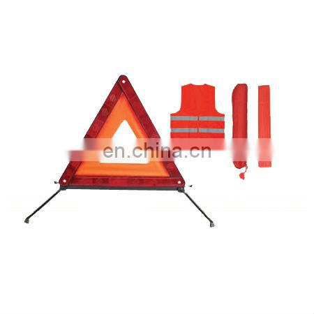 Auto Safety/Car Roadway Emergency Kit, Includes 1-piece Triangle and Plastic Box
