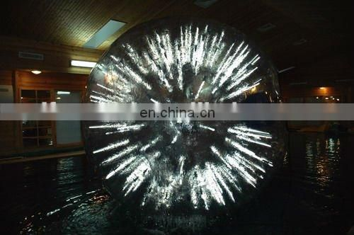 Lighting human grass zorbing ball