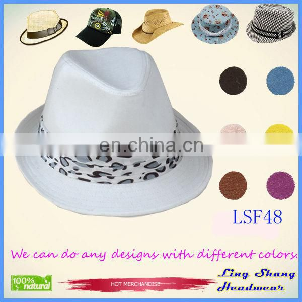 LSF54 Ningbo Lingshang Custom Good Quality Fabric Fedora party hat