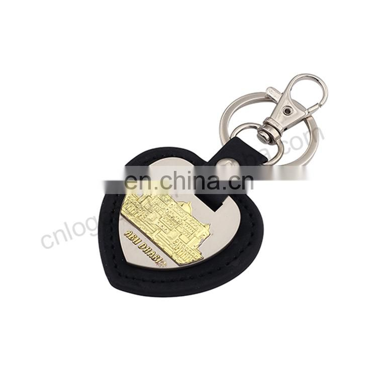 hot sales with top quality custom leather keychain