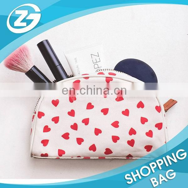Small Cotton Canvas Fabric Zipper Bag