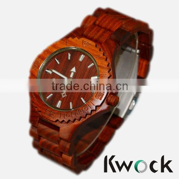 Universal business watch,custom logo bamboo wooden quart watch