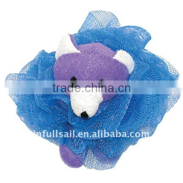 Wholesale Exfoliate Body Massage Ball Bath Pouf Mesh Bath Animal Scrubber Bath Sponge