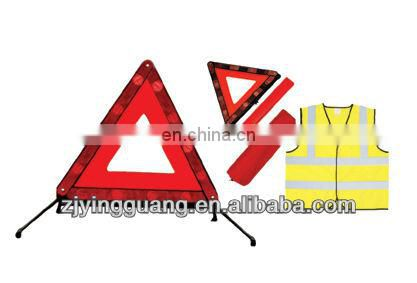 customizable flashing light warning triangle