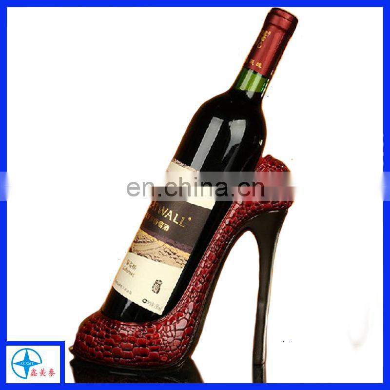 Graceful resin light blue high heel shoe wine bottle holder