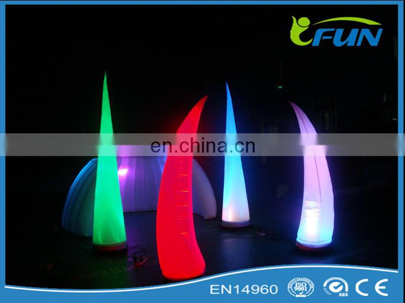 hanging lighting inflatable star holiday decoration/ inflatable LED decoration/ holiday decoration
